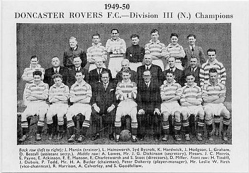 Doncaster Rovers Team Photos: DRFC Team Photo: 1949-50