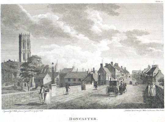 doncaster photo gallery  old doncaster engraving  on donny